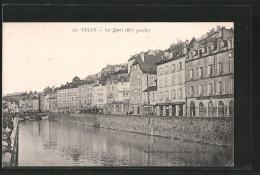CPA Tulle, Les Quais, Rive Gauche - Tulle