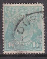 Australia George V,  Kings Head, 1932, 1s4d, Turquoise,  Used, - 1913-36 George V : Heads