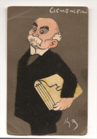 Caricature CLEMENCEAU En Feutrine Signée Henri Pierre Des Années 1900 - Illustratori & Fotografie