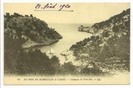13 - EN MER DE MARSEILLE A CASSIS - Calanque De Port-Pin - Ed. LL N° 27 - 1920 - Quatieri Sud, Mazarques, Bonneveine, Pointe Rouge, Calanques