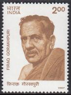 India MNH 1997, Firaq Gorakhpuri, Urdu Poet, - India