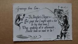 38972 POSTCARD: CORNWALL: Greetings From LOOE.  The Angler's Prayer. REAL PHOTOGRAPH. - Otros