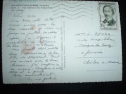 CP TP YT 1148 FOUCAULT 15F OBL.MEC.12-3-1958 TOURNAN-EN-BRIE (77 SEINE ET MARNE) - 1921-1960: Modern Period