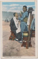 Cpa,asia,asie,1900,chine, China,a  Chinese Street Barber,peking,pékin,beiji Ng,métier,coiffeur,barbie R,rare - Chine