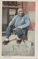 Cpa,asia,asie,1900,chine,   China,his  Pipe,men Very Happy,rare - Chine