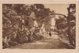 CARTE POSTALE ANCIENNE,83,VAR,TOULON EN 1930,ROUTE ANCIENNE, CROIX FARON ,CABANE,FEMME,ENFANT - Toulon