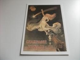PUBBLICITARIA CHAMPAGNE DE VENOGE & CIE BOTTIGLIA DI VINO SPUMANTE DONNA CHE BRINDA ILLUSTRATORE HENRION LA COMETE - Advertising
