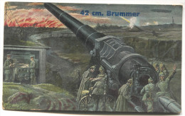 WW1 - K.u.K. Feldpost 1915. Seal FELDKANONEN, Brummer, Artillery Cannon - Weltkrieg 1914-18