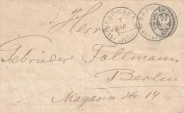 WARSZAWA - 1883 , Ganzsache Nach Berlin - Covers & Documents
