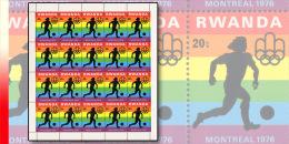Rwanda 0761**  20c  Jeux Olympiques de Montr�al - Feuille / Sheet de 20 MNH Football