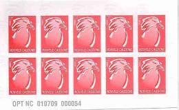 Nouvelle Caledonie Premier Carnet Imprime LOCALEMENT Avec Numérotation Continue 10000 Carnets Cagou Neuf TBE - Non Classés