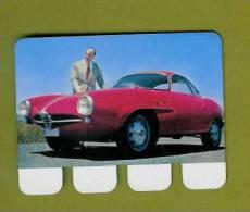 PLAQUETTE PUBLICITE COOP...PLAQUE En TOLE..Automobile..ALFA-ROMEO..n 9 - Plaques Publicitaires