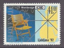 Slovenia / Slovenija 1992 17th Worldesign - ICSID World Design, Art, Excellent Productions, Map, Ljubljana '92 MNH - Slovénie