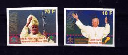 V] Série Set ** Rwanda Non Dentelée Imperforated Visite Pape Jean-Paul II Visit Pope John-Paul II - Autres