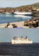 """2 CPM  De CORSE (20) - La CORSE INOUBLIABLE - BATEAUX - Le """" CORSE """" Et BASTIA Bateaux Au Port - Bastia"""
