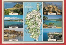20 - Carte Contour Géographique Du Département De CORSE - Maps