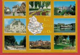 21 - Carte Contour Géographique Du Département De COTE D'OR - Cartes Géographiques