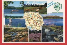 23 - Carte Contour Géographique Du Département De LA CREUSE - Maps