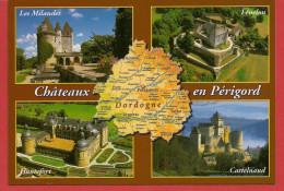 24 - Carte Contour Géographique Du Département De LA DORDOGNE - Cartes Géographiques