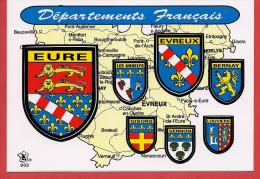 27 - Carte Contour Géographique Du Département De L'EURE - Carte Geografiche