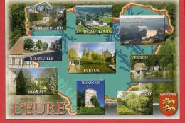 27 - Carte Contour Géographique Du Département De L'EURE - Cartes Géographiques
