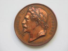 Très Belle Médaille NAPOLEON III EMPEREUR -Comice Agricole De L'arrandissement De BRIVES 1868 **** EN ACHAT IMMEDIAT *** - Francia