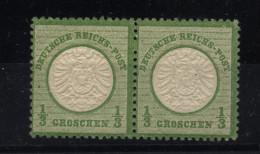 D.R.Nr.17a,Paar Mit Fehlenden Zähnungsloch,xx,Befund - Neufs