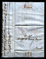 """Napoli-00001 - Piego Da Lanciano Il 21 Aprile 1808 - Col Raro Bollo """"C. D./ R."""" (Cammino Di Roma). - Italia"""
