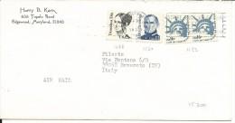 VE200 - STATI UNITI - N.1193+1478+1560 SU BUSTA VIAGGIATA 1985 - CATALOGO YVERT - Postal History