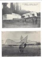 1 Lot de 34 Cpa - Aviation avec Santos Dumont - Farman - Hanriot - Gastambide - Van Den Born - Legagneux - Morane etc...
