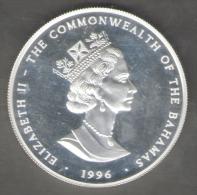 BAHAMAS DOLLAR 1996 THIRD MILLENNIUM YEAR 2000 AG SILVER FONDO SPECCHIO - Bahamas