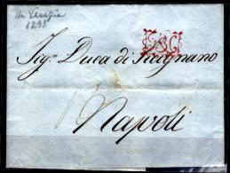 """Napoli-00005 - Piego Da Venezia Del 1° Dicembre 1798 - Monogramma In Cartella """" R P N """" - - Italia"""
