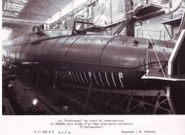 Photographie du sous-marin nucl�aire lanceur d'engins (SNLE) LE FOUDROYANT sur cale � Cherbourg