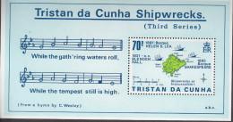 TRISTAN DA CUNHA, 1987 SHIPWRECKS MINISHEET MNH - Tristan Da Cunha