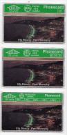 PAPOUASIE NOUVELLE-GUINEE LOT 3 TELECARTES 1991 ELA BEACH PORT MORESBY  CN 108A MINT - Papouasie-Nouvelle-Guinée