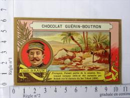 Chromo Chocolat GUERIN-BOUTRON, Capit. BRAUN. Français. Mission Bretonnet Anéantie Par Rabah - Guérin-Boutron