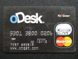 Bank Card From Belarus MasterCard Debit Odek - Belarus