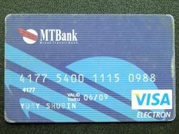 Bank Card From Belarus VISA MT Bank Minsk Transit Bank - Belarus