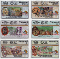 PAPOUASIE NOUVELLE-GUINEE LOT 6 TELECARTES EXPO 1992 SEVILLA  CN 203A MINT - Papua New Guinea