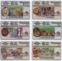 PAPOUASIE NOUVELLE-GUINEE LOT 6 TELECARTES EXPO 1992 SEVILLA  CN 203A MINT - Papouasie-Nouvelle-Guinée