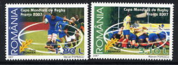 ROMANIA 2007 Rugby World Cup Set Of 2   MNH / **.  Michel 6242-23 - 1948-.... Republics
