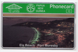 PAPOUASIE NOUVELLE-GUINEE TELECARTE 10U ELA BEACH PORT MORESBY  CN 108A MINT - Papouasie-Nouvelle-Guinée