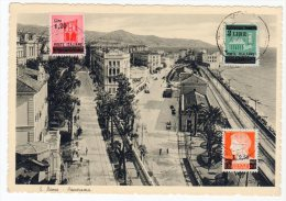 CARTE MAXIMUM - 1945 - N°523+524+525 - 5. 1944-46 Lieutenance & Humberto II