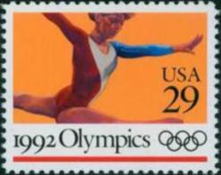 1992 USA Summer Olympics Stamp Gymnastics #2638 Sport - Gymnastics