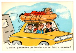 LE CAMPING   Tu Aurais Pu Installer Maman Dans La Caravane    Carte En Très Bon état - Humor
