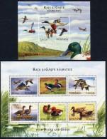 ROMANIA 2007 Waterfowl Blocks MNH / **.  Michel Blocks 402-03 - 1948-.... Republics