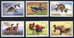 ROMANIA 2007 Waterfowl  Set Of 6  MNH / **.  Michel 6213-18 - 1948-.... Republics