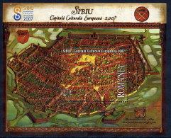 ROMANIA 2007 Sibiu European City Of Culture Blocks   MNH / **.  Michel Blocks 400-01 - 1948-.... Republics