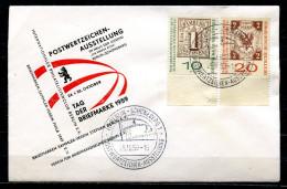 "Berlin 1959 dekorativen Sonderbeleg Tag der Briefmarke mit Mi.Nr.310/311 u.SST""Berlin-Tag der Briefmarke,Day of ""1 Beleg"