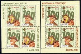 ROMANIA 2007 Europa: Scouting Blocks  MNH / **.  Michel Blocks 396 I-II - 1948-.... Republics